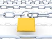 Zamknięty łańcuch — Zdjęcie stockowe