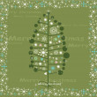Royalty-Free Stock Vectorafbeeldingen: Winter Tree Background , Christmas vector card