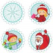 Christmas happy icons . — Stock Vector