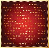 Fondo con corazón de oro. — Vector de stock