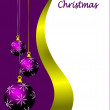 An abstract Christmas card vector illustration - Imagen vectorial
