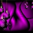 Purple Christmas Vector Background - Stock Vector