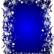 Blue Christmas Grunge Vector Background - Stock Vector