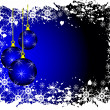 An abstract Christmas vector illustration with blue baubles - Imagen vectorial