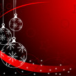 Vector de stock : Red Christmas Baubles Background