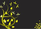 An abstract yellow floral design — Stock Vector