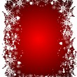 Red Christmas Grunge Vector Background - Stock Vector