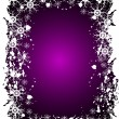 Purple Christmas Grunge Vector Background - Stock Vector