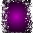 Purple Christmas Grunge Vector Background — Stock Vector