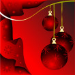 rode christmas baubles illustratie — Stockvector