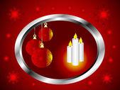Una ilustración de vector abstracto de navidad con adornos rojos — Vector de stock
