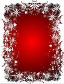 Red Christmas Grunge Vector Background — Stock Vector