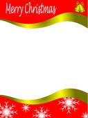 Vector christmas stationary wirh top and bottom christmas border — Stock Vector