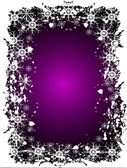 Purple Christmas Grunge Vector Background — 图库矢量图片