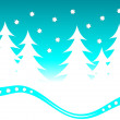 Abstract Christmas Winter Scene — Stock Vector
