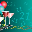 Twenty First Birthday party Background Template — Stockvectorbeeld