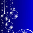 Blue Christmas Baubles Background — Stock vektor