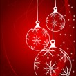 Red Christmas Baubles Background — Stock vektor