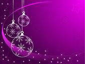 Púrpura abstact de adornos de navidad — Vector de stock