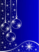 Blue Christmas Baubles Background — Stock Vector