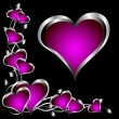 A purple hearts Valentines Day Background — Image vectorielle