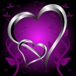 Royalty-Free Stock Vector Image: A purple hearts Valentines Day Background