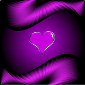 Día de san valentín fondo de corazones púrpura — Vector de stock