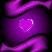 Purpurowe serca walentynki tło — Wektor stockowy