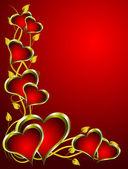 Sfondo san valentino vettoriale — Vettoriale Stock