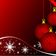 Abstract Christmas Baubles Background — Vettoriali Stock