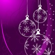 Purple Abstract Christmas Baubles Background — Stock Vector