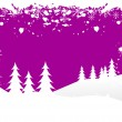 Grunge Christmas Vector Background — Stock Vector