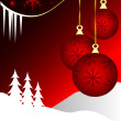 An abstract Christmas vector illustration — Imagens vectoriais em stock