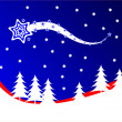 A red and blue Christmas background vector illustration - 图库矢量图片