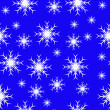 An abstract blue seamless vector snowflake background - Stock vektor