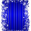 A grunge christmas frame with snowflakes - Stock vektor
