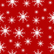 An abstract seamless vector snowflake background - Stock vektor