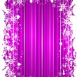 Stock Vector: Grunge christmas frame with snowflackes on mauve background