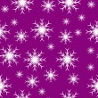 Mauve seamless snowflake background — Stock Vector