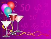 Fiftieth Bithday Party — Stock Vector