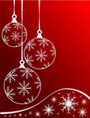 Red Christmas Baubles Background — Vecteur