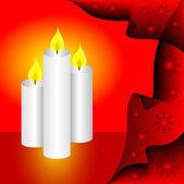 クリスマス キャンドルの背景 — ストックベクタ