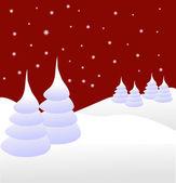 Een winter vector achtergrond illustratie — Stockvector