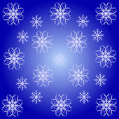 An abstract snowflake background — Stock Vector