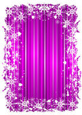 Grunge christmas frame with snowflackes on a mauve background — Stock Vector