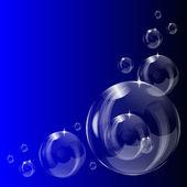 A transparent soap bubble background design — Stock Vector
