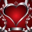 A red hearts Valentines Day Background — Stock Vector