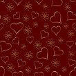 A gold hearts seamless valentines day background — Stock Vector