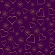 A gold hearts seamless valentines day background — Imagens vectoriais em stock