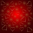 Royalty-Free Stock Vector Image: A gold hearts valentines day background